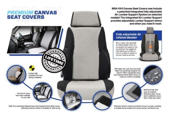 Msa Premium Seat Cover Advert Online Sales